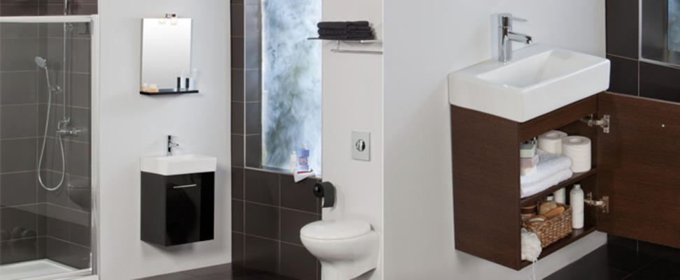 Mueble de ba o smart de tattom para espacios reducidos for Lavabos pequenos con mueble