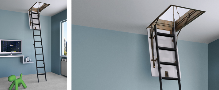 Escalera plegable 4p de misterstep escaleras productos for Escaleras plegables extensibles